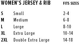 bella canvas jersey size chart